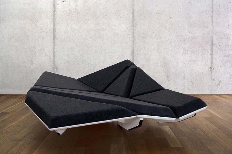 Canapé lit atypique