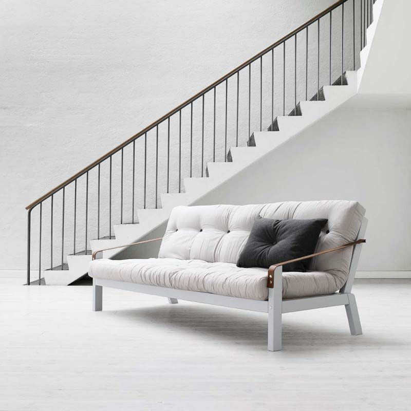 canap lit blanc. Black Bedroom Furniture Sets. Home Design Ideas