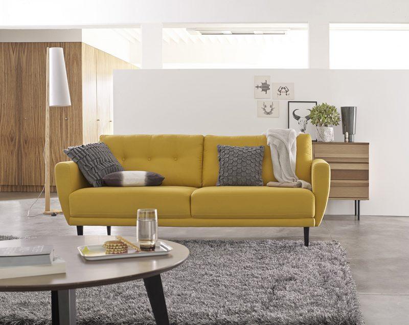 canap moutarde la redoute int rieur. Black Bedroom Furniture Sets. Home Design Ideas