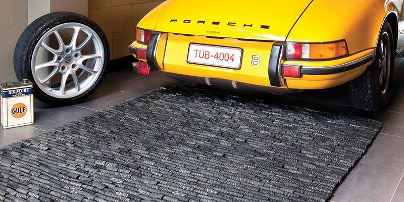 Tapis en pneu