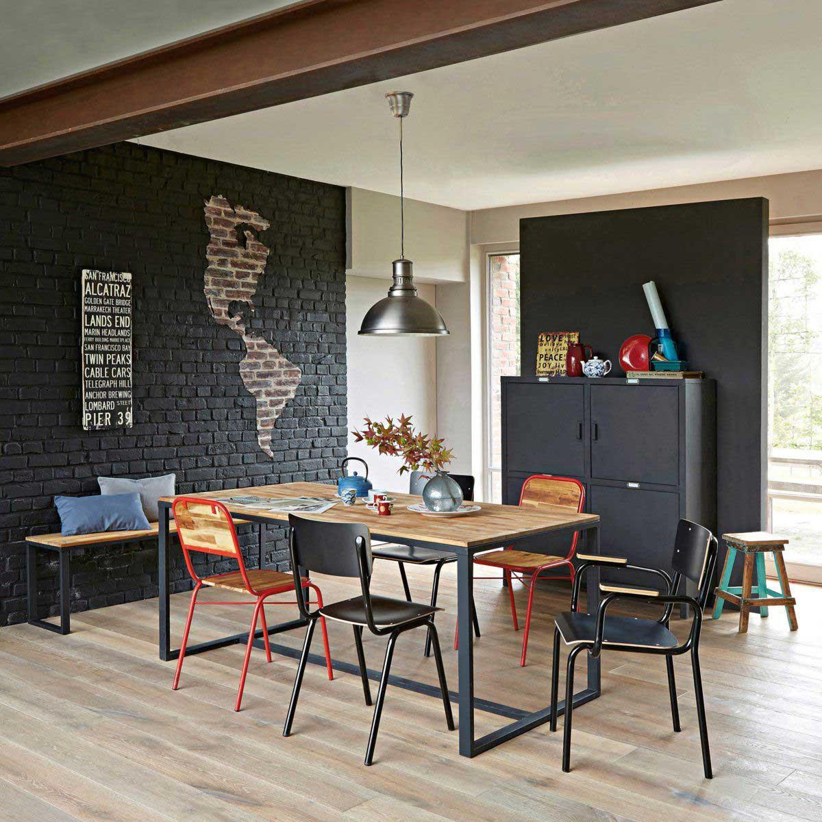 chaise d 39 cole noire pour d co industrielle. Black Bedroom Furniture Sets. Home Design Ideas