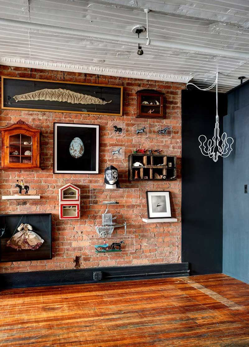 loft dans une ancienne usine de v tements new york. Black Bedroom Furniture Sets. Home Design Ideas