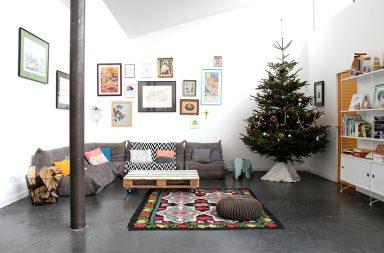 Sapin de Noël dans notre loft