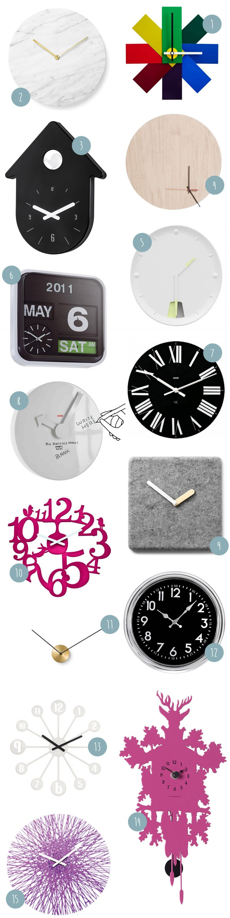 Idée déco horloge