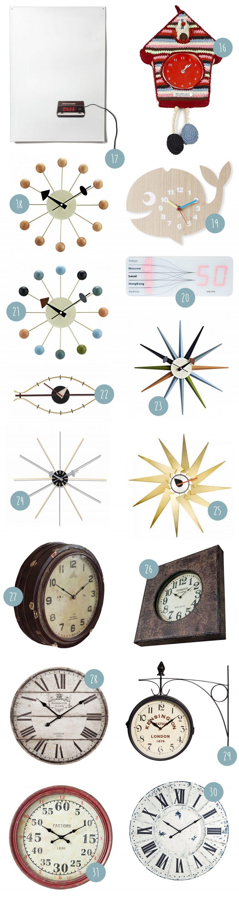 35 idées déco d'horloge murale