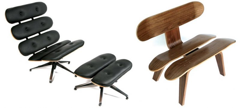 Mobilier Eames en version skateboard