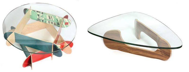 Table basse design skateboard