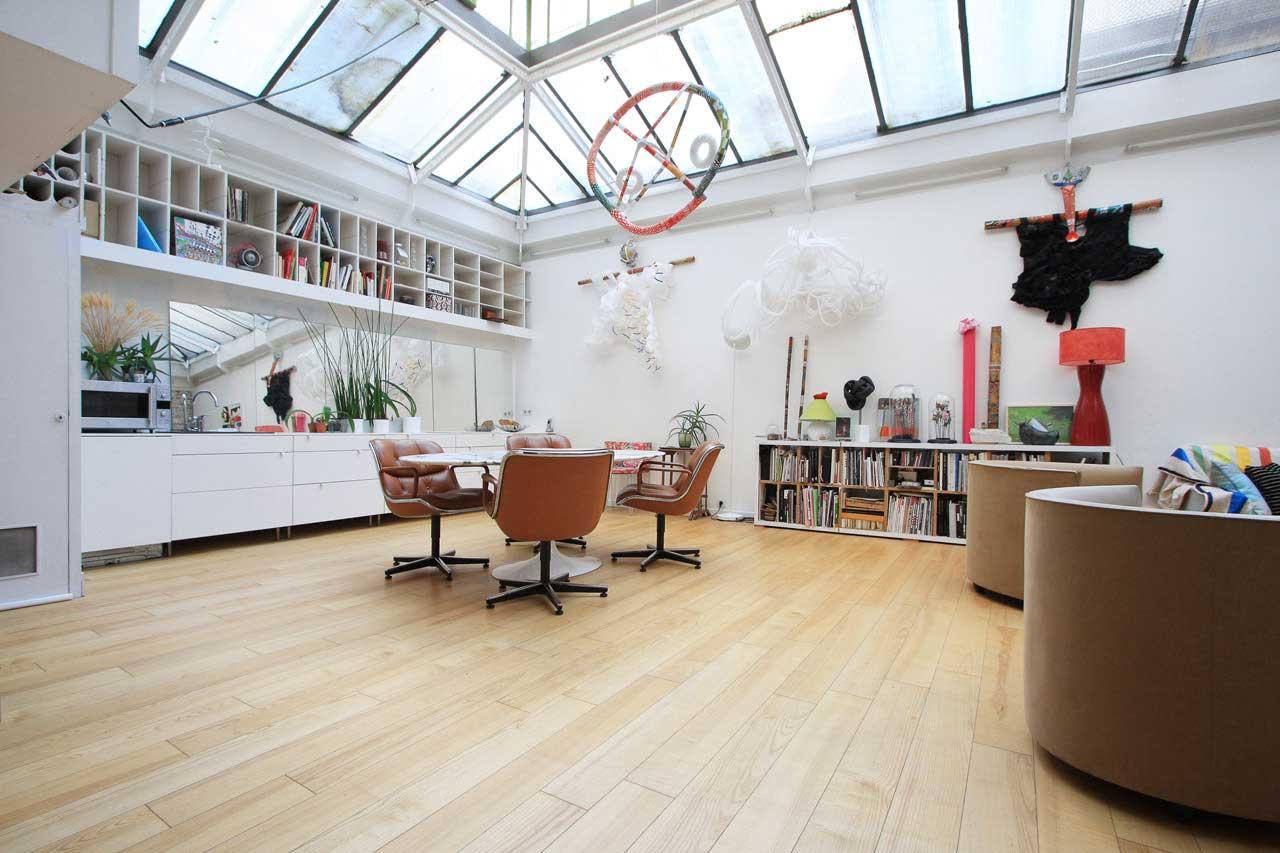 Loft avec verri re paris 10 for Verriere style loft