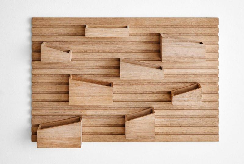 Organiseur mural en bois par Woud