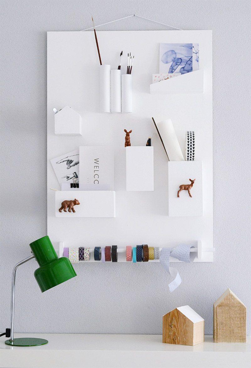 Rangement mural DIY