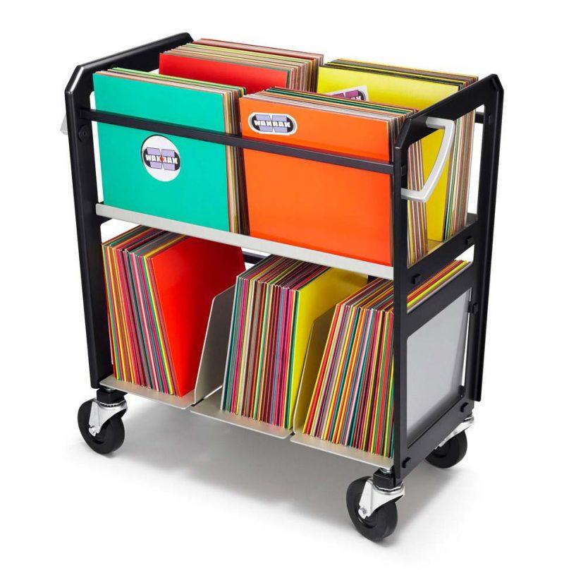 Chariot à disques vinyles
