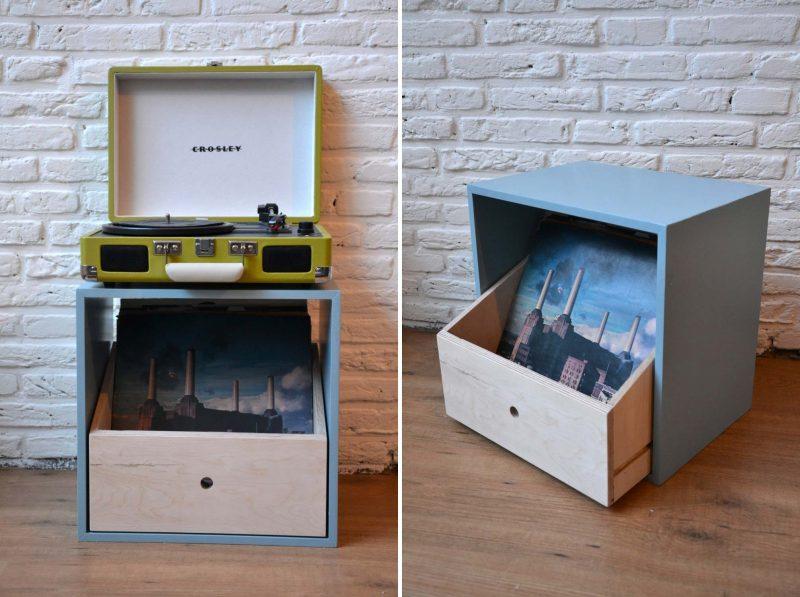 40 meubles pour ranger des vinyles for Meuble disque vinyle