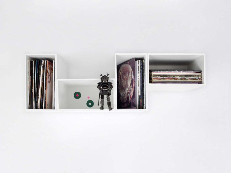 Cube pour ranger disques vinyle