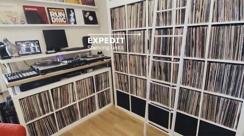 Expedit, kallax pour vinyles par Ikea