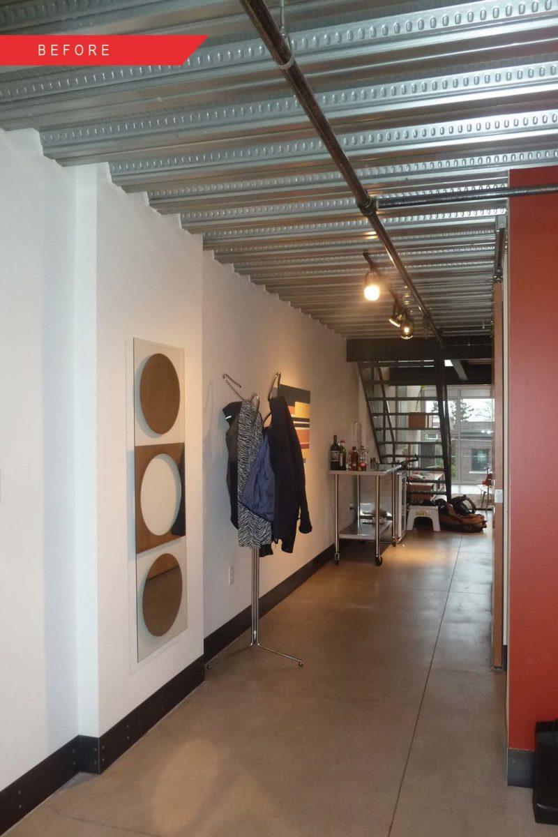 Loft avant travaux couloir