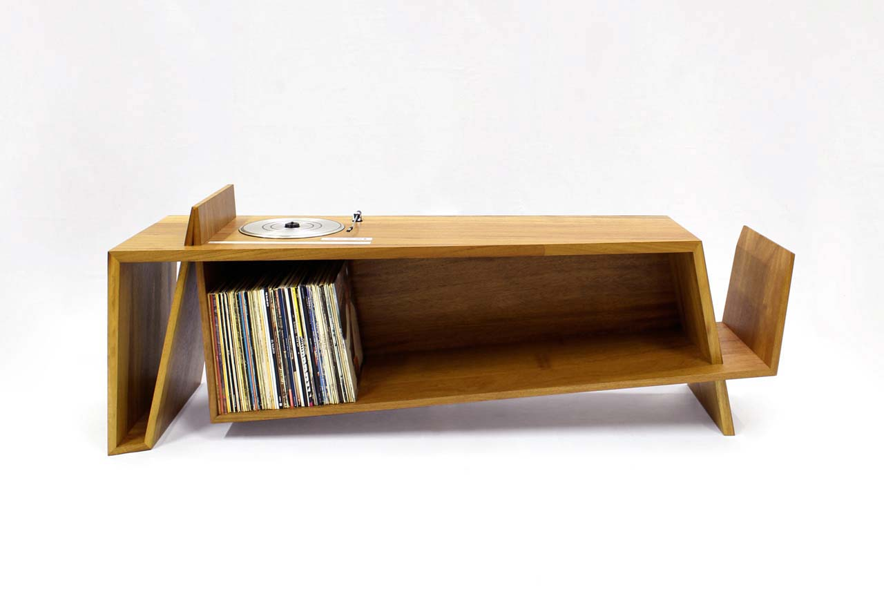 Meuble avec platine vinyle int gr e for Meuble table integree