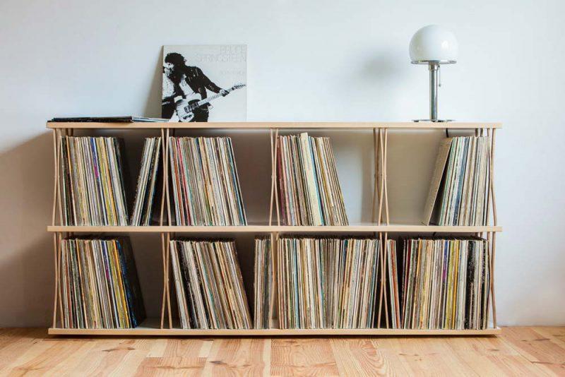 génial Meuble commode pour disques vinyles