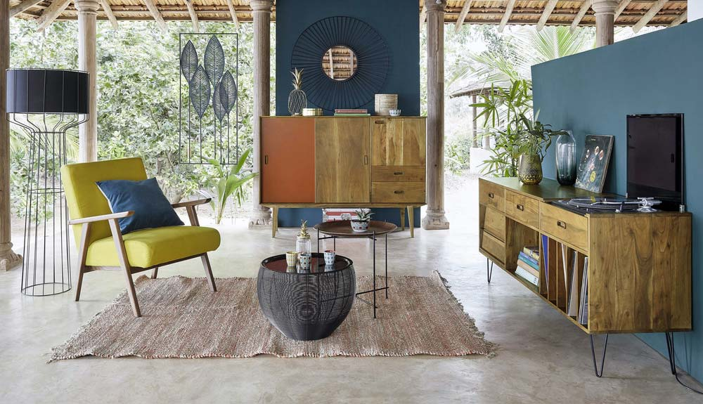 meuble disque vinyles maisons du monde. Black Bedroom Furniture Sets. Home Design Ideas