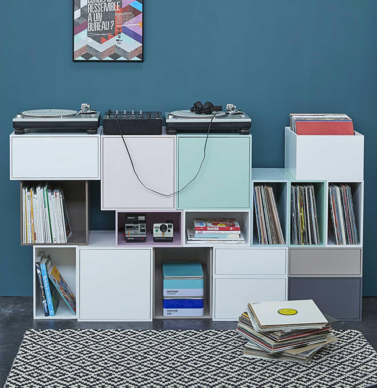 meuble dj pour platines et vinyles. Black Bedroom Furniture Sets. Home Design Ideas