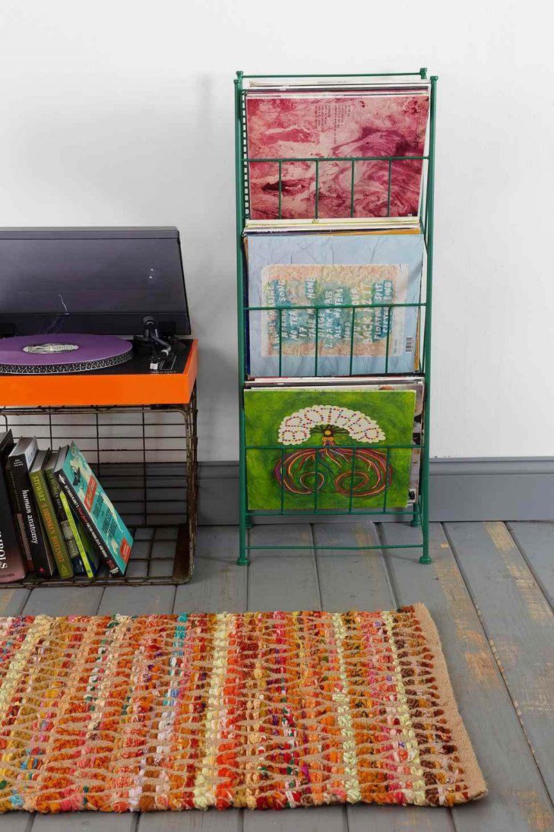 Porte vinyles Urban Outfitters vert