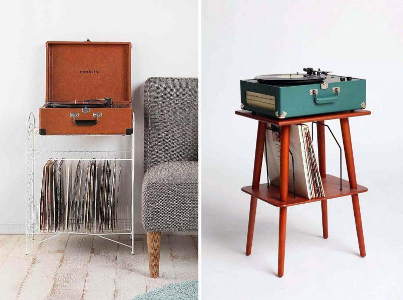 meuble range vinyles vintage