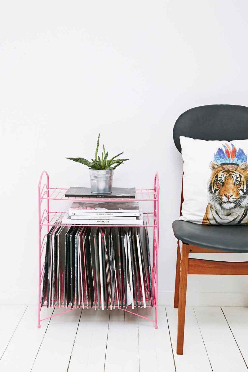 35 id es d co pour ranger des vinyles. Black Bedroom Furniture Sets. Home Design Ideas