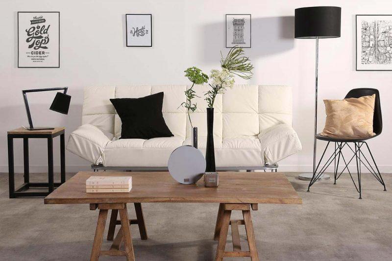 table basse avec mini tr teaux. Black Bedroom Furniture Sets. Home Design Ideas