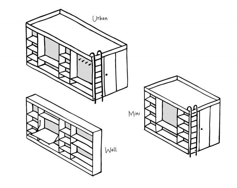 Les trois versions du Living Cube