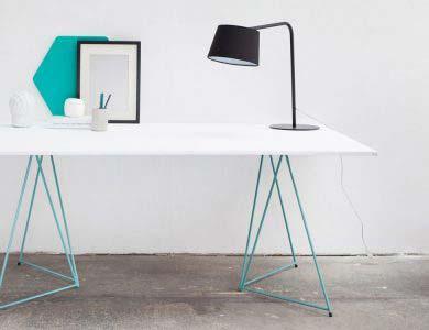 41 idées déco de tréteaux pour créer une table ou un bureau