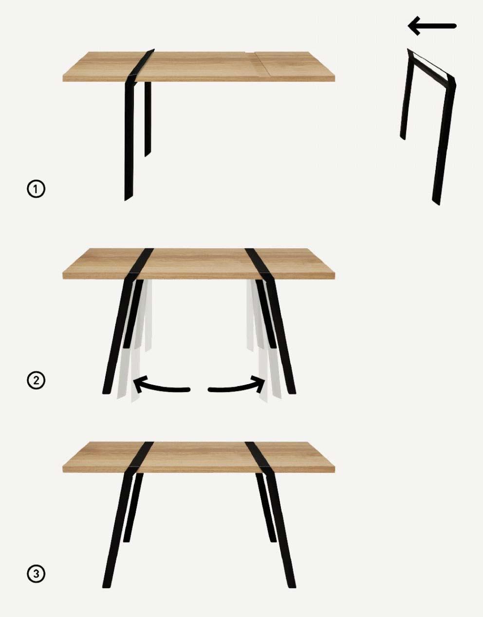 tr teaux originauxs noirs. Black Bedroom Furniture Sets. Home Design Ideas