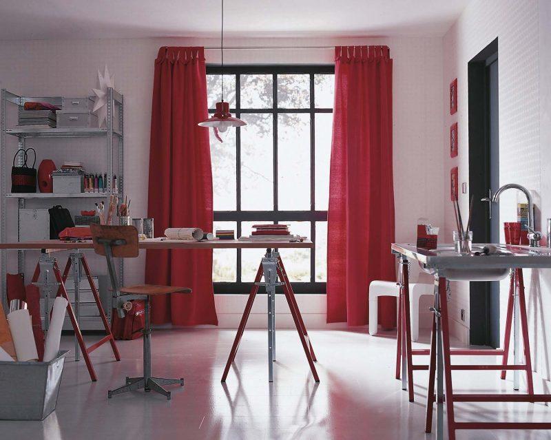 Tréteau rouge Leroy Merlin