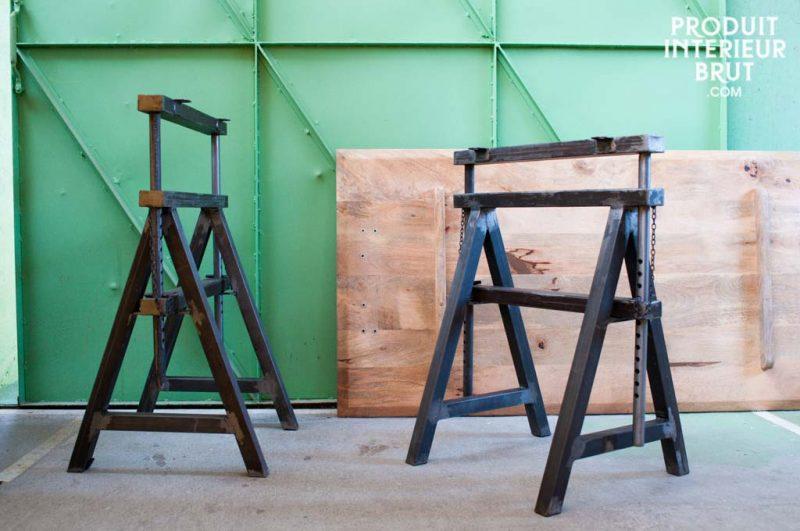 Idées déco de tréteaux pour créer une table ou un bureau