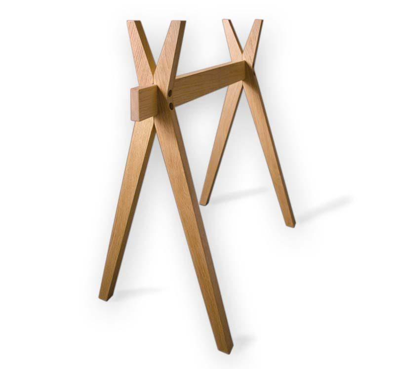 Tréteaux design en bois Robba édition