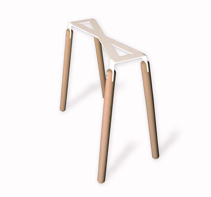 Tréteaux design en métal et bois Robba édition