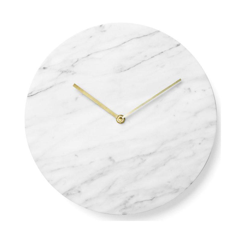 Horloge marbre blanc