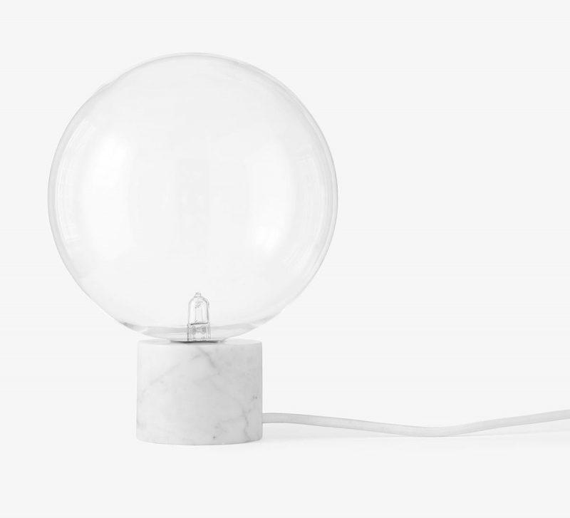Lampe à poser en marbre