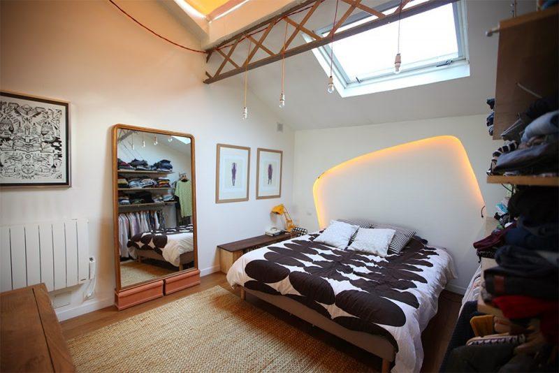 Chambre du loft à Argenteuil