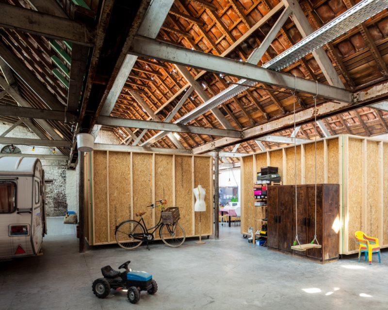 Modules à l'intérieur d'un loft
