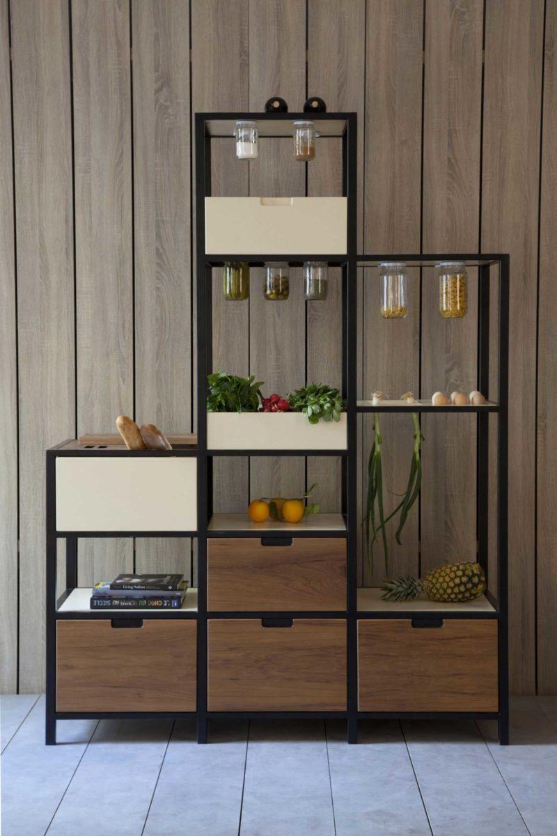 Meuble de cuisine original food storage