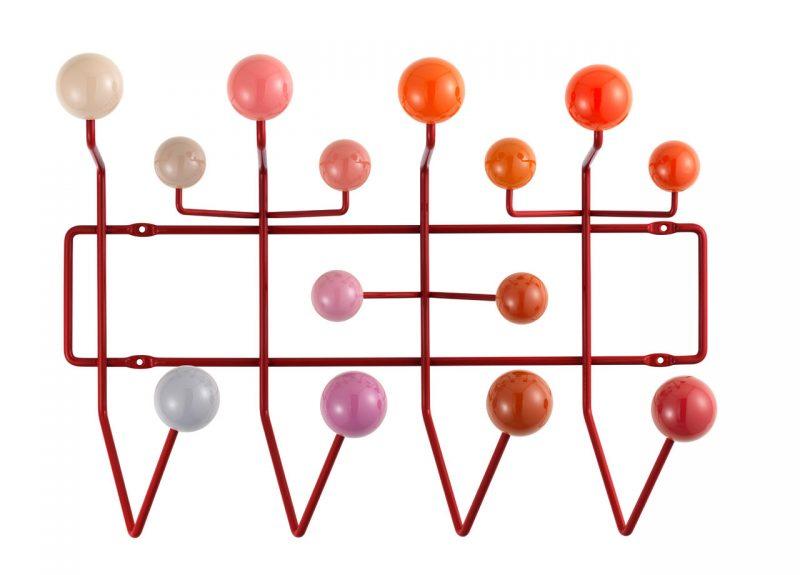 Porte-manteaux Eames Hang it all rouge