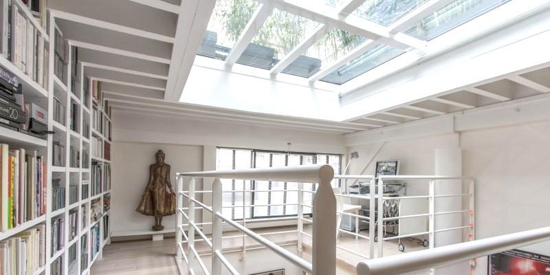 Toit terrasse verre