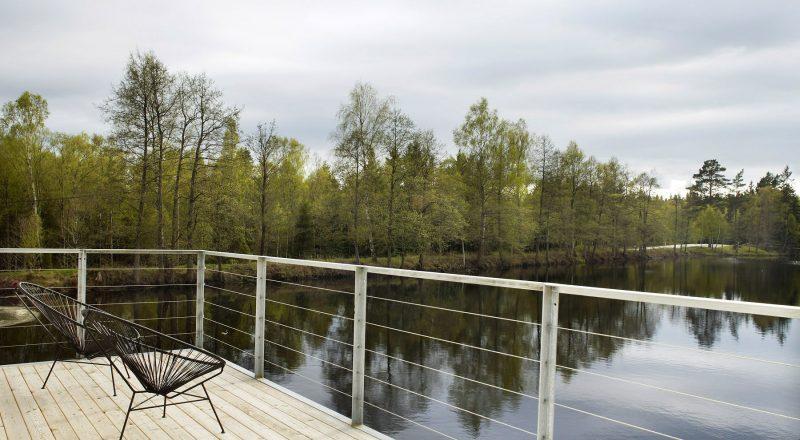 Usine transformée en loft en Suède