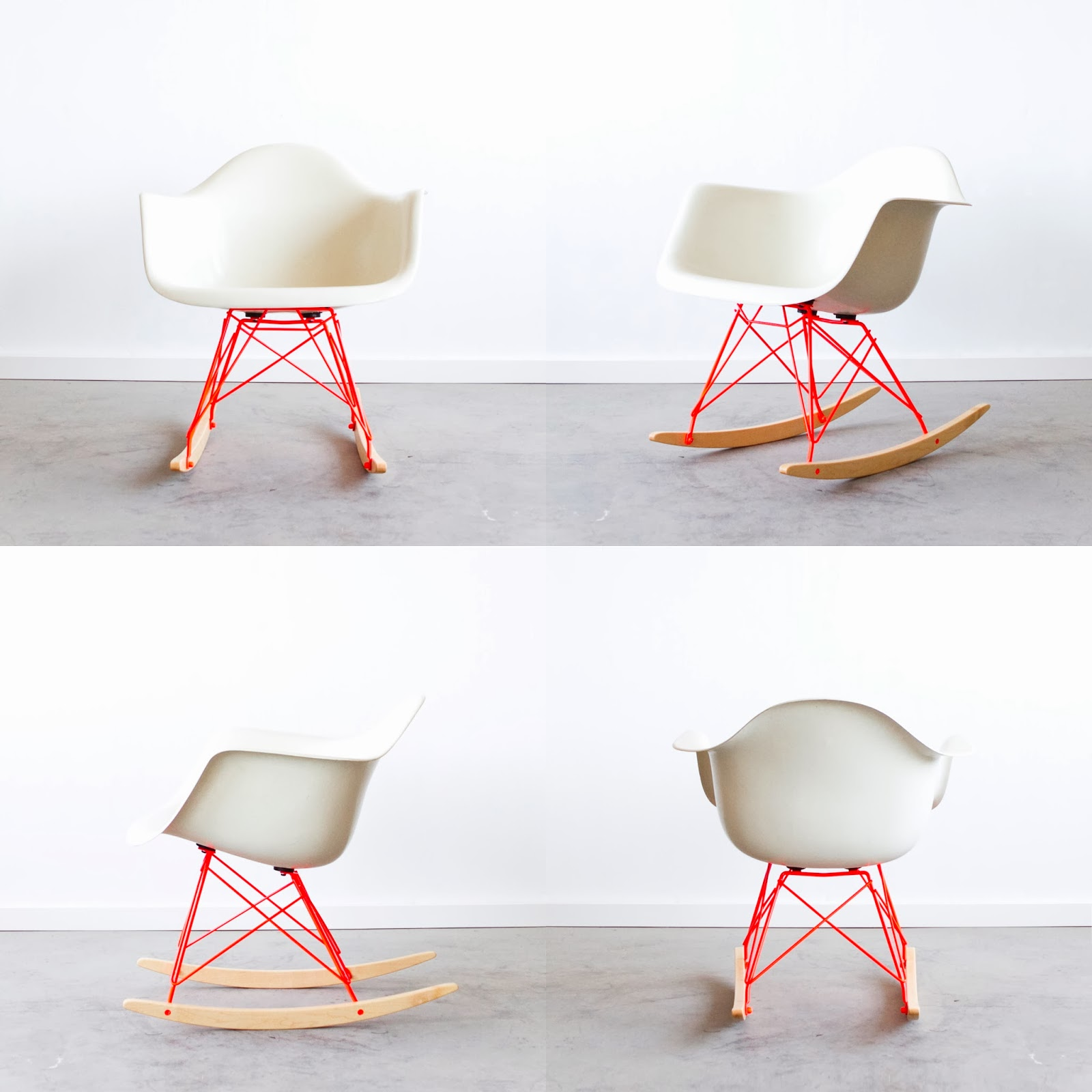 chaise eames customis e en rose fluo. Black Bedroom Furniture Sets. Home Design Ideas