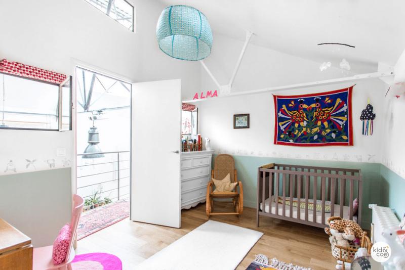 Chambre d'enfant dan un loft