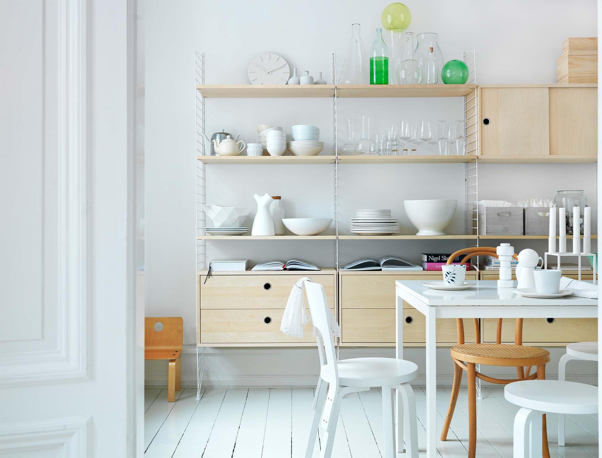 string furniture rangement d co scandinave. Black Bedroom Furniture Sets. Home Design Ideas