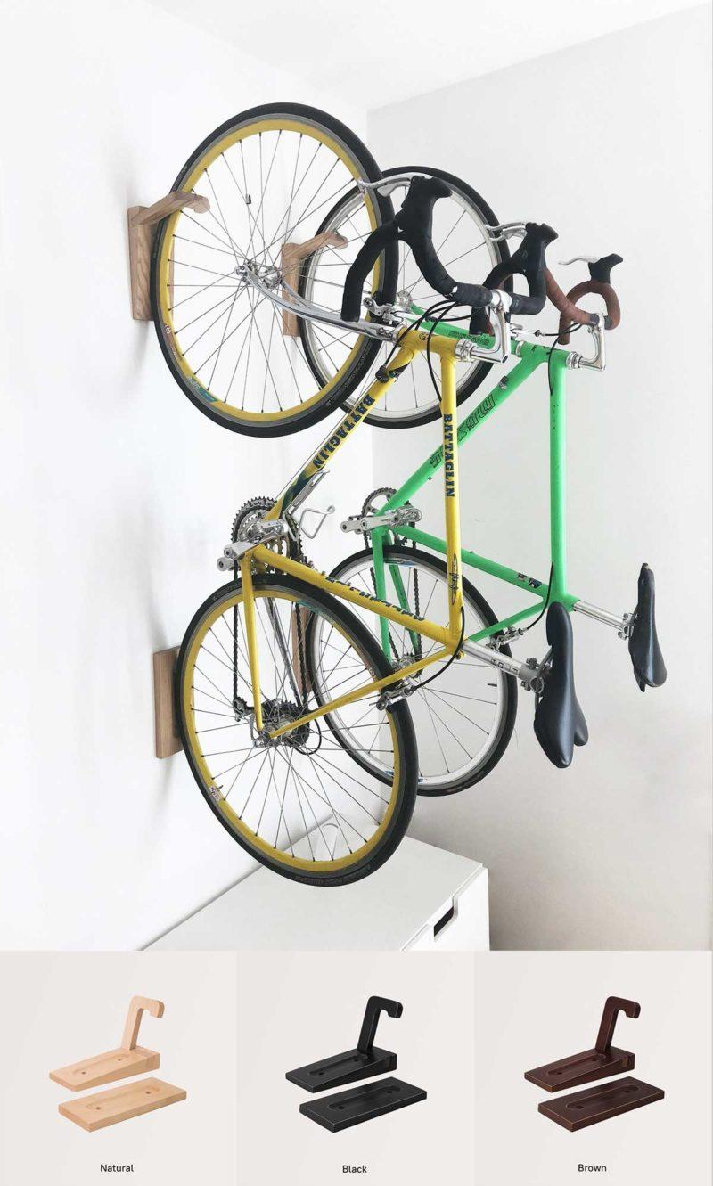 Crochet accroche vélo mural design