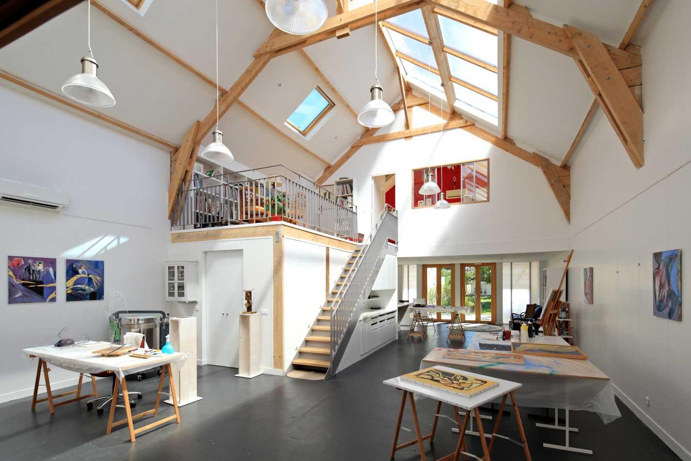 Ateliers d 39 artistes par t design architecture for Loft et atelier
