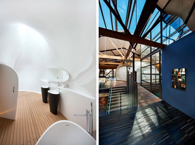 Salle de bains futuriste
