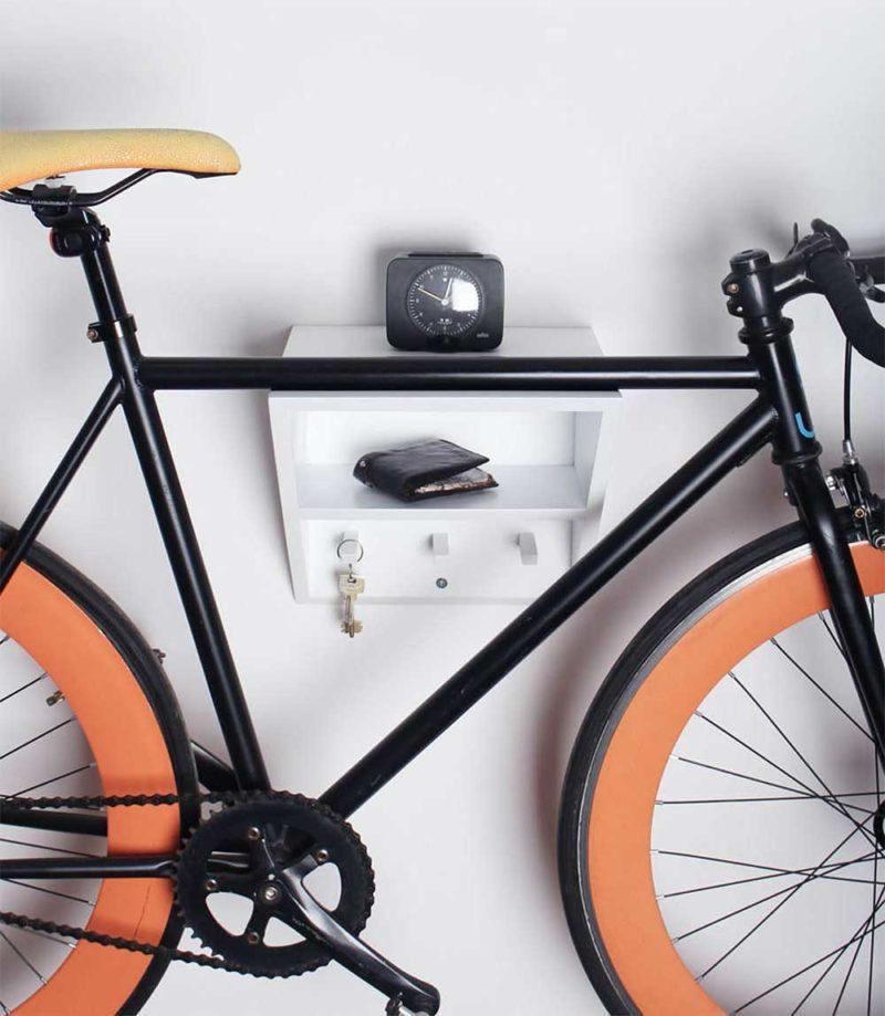 Porte vélo avec crochets pour les clés