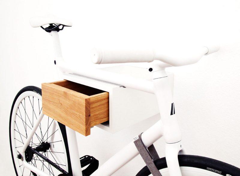 Porte vélo avec tiroir